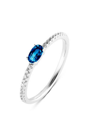 ring PDM1133027 zilver/blauw