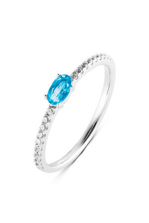 ring PDM133026 zilver/blauw