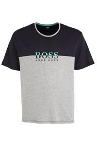 BOSS pyjamatop donkerblauw/grijs, Donkerblauw/grijs