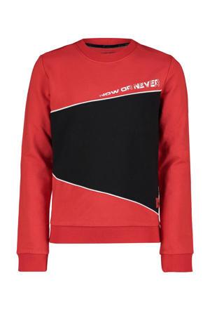 sweater Franky met tekst rood
