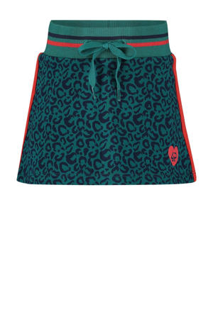 rok Elif met contrastbies petrol/rood/donkerblauw