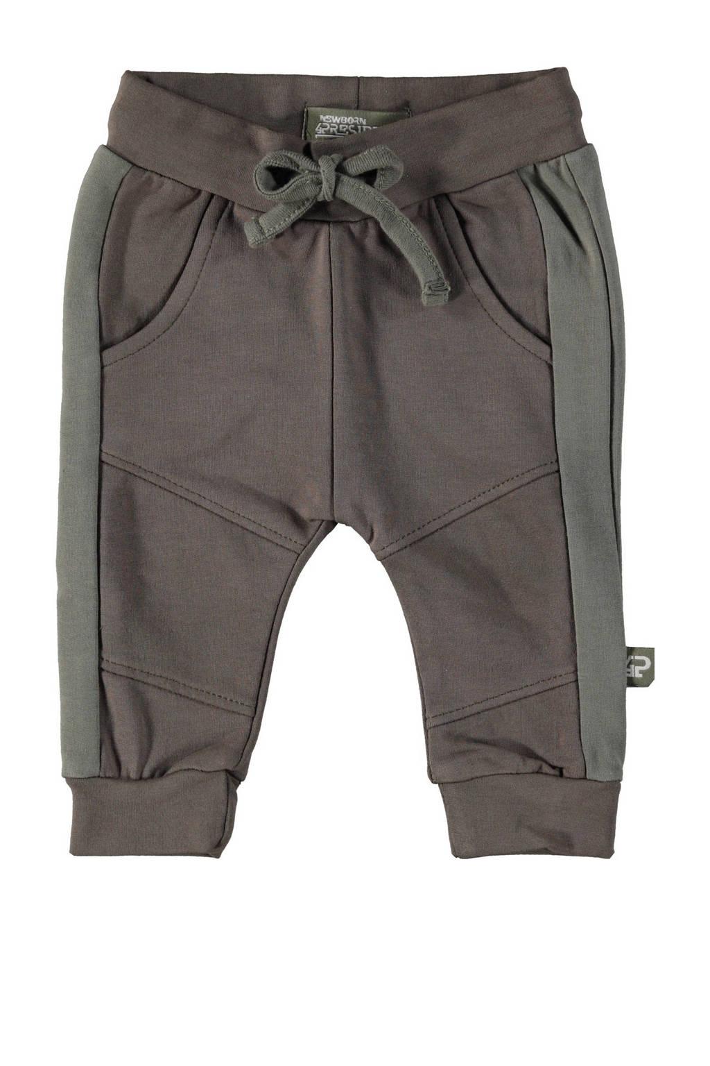 4PRESIDENT baby tapered fit broek Apollo donkergroen, Donkergroen