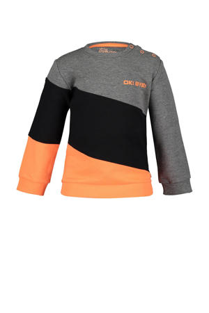sweater Chevy antraciet/oranje/zwart