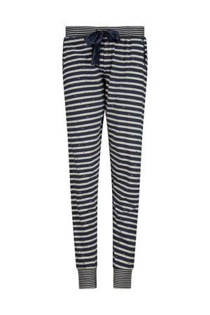 gestreepte pyjamabroek donkerblauw/wit