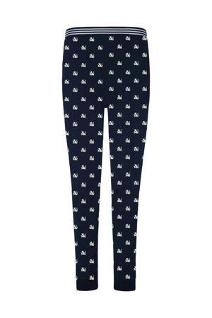 pyjamabroek met printopdruk donkerblauw