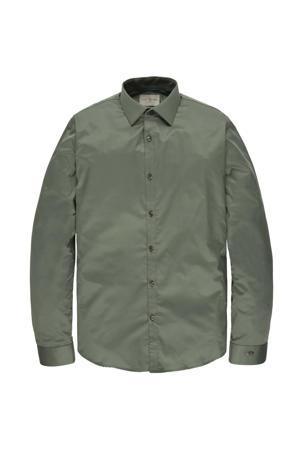 regular fit overhemd grijsgroen