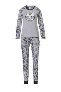 Rebelle pyjama met all over print grijs, Grijs