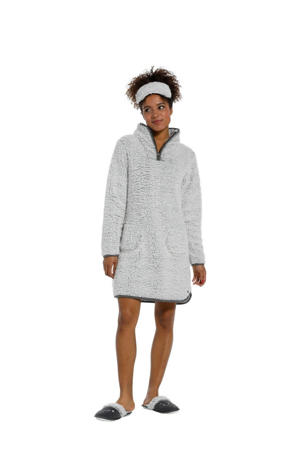 fleece loungejurk grijs