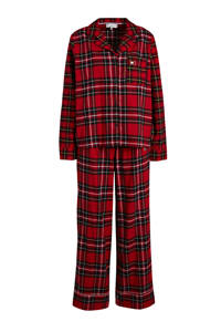 Tommy Hilfiger geruite flanellen pyjama rood/donkerblauw, Rood/donkerblauw