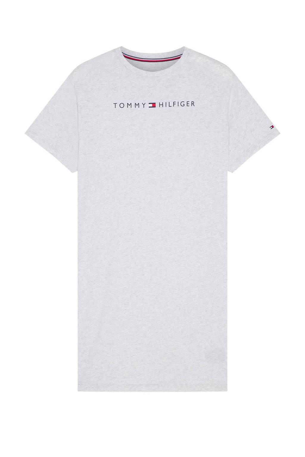 Tommy Hilfiger nachthemd met printopdruk lichtgrijs, Lichtgrijs