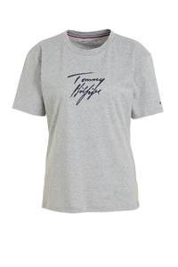Tommy Hilfiger loungetop met logoprint grijs, Grijs