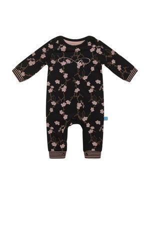 baby gebloemd boxpak zwart/roze