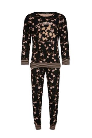 pyjama zwart/roze