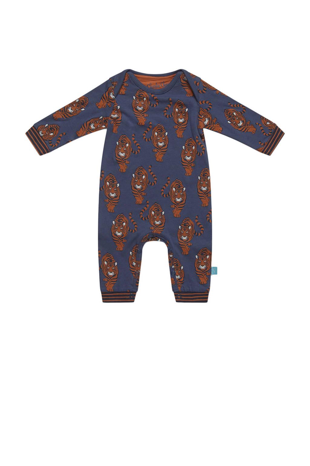Charlie Choe baby boxpak met all over print blauw/bruin, Blauw/bruin