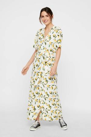 jurk met all over print wit