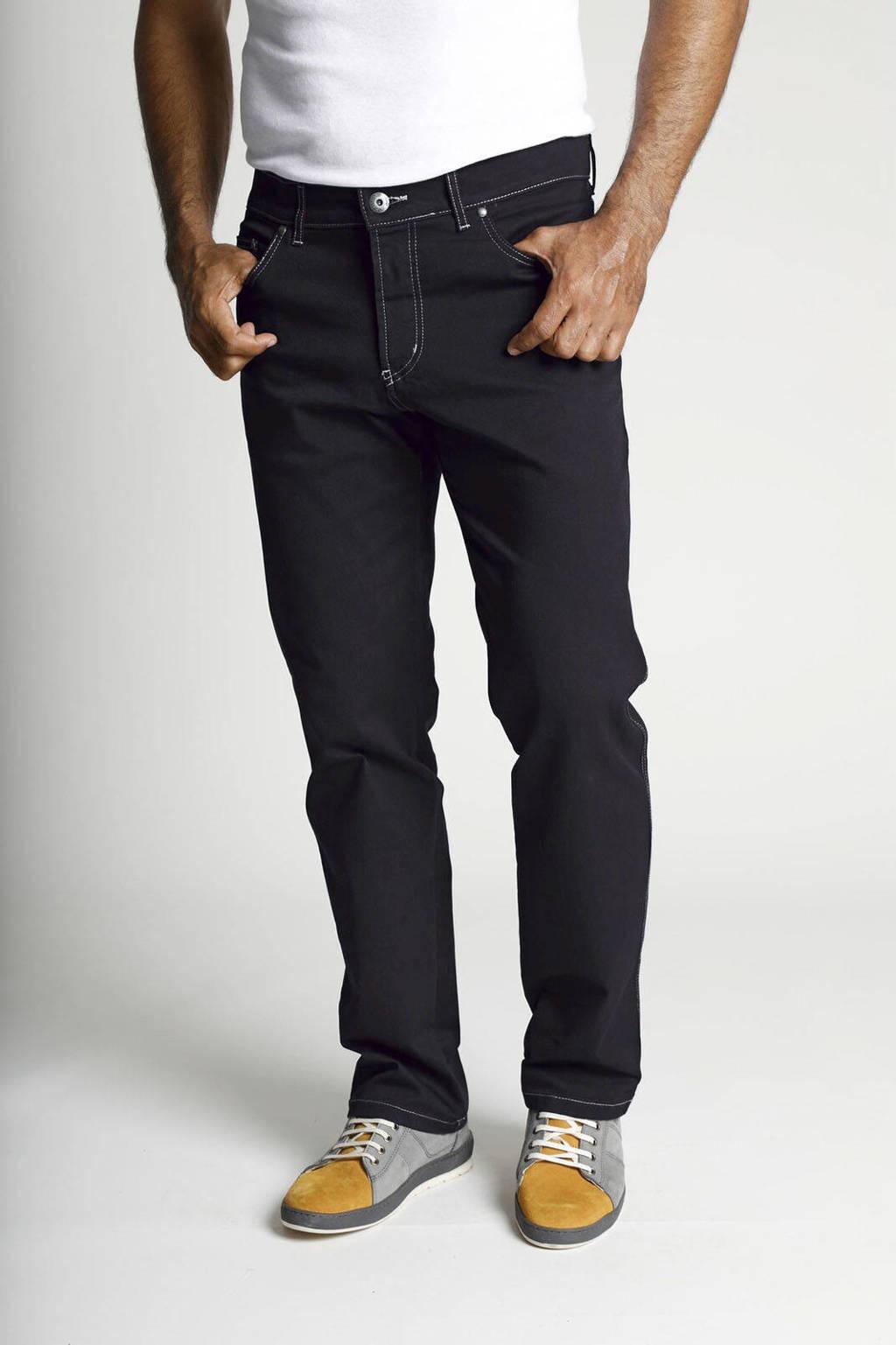 Jan Vanderstorm loose fit broek Plus Size Gunnar zwart, Zwart