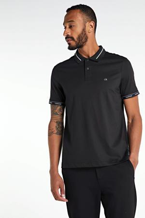 regular fit polo zwart/wit