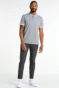 CALVIN KLEIN regular fit polo grijs/wit, Grijs/wit