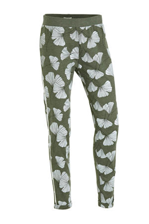 pyjamabroek met all over print groen