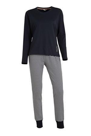 pyjama donkerblauw/wit