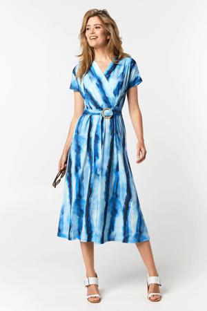 jurk met ceintuur blauw