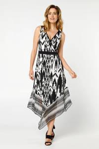 Miss Etam Regulier gebloemde jurk zwart/wit, Zwart/wit
