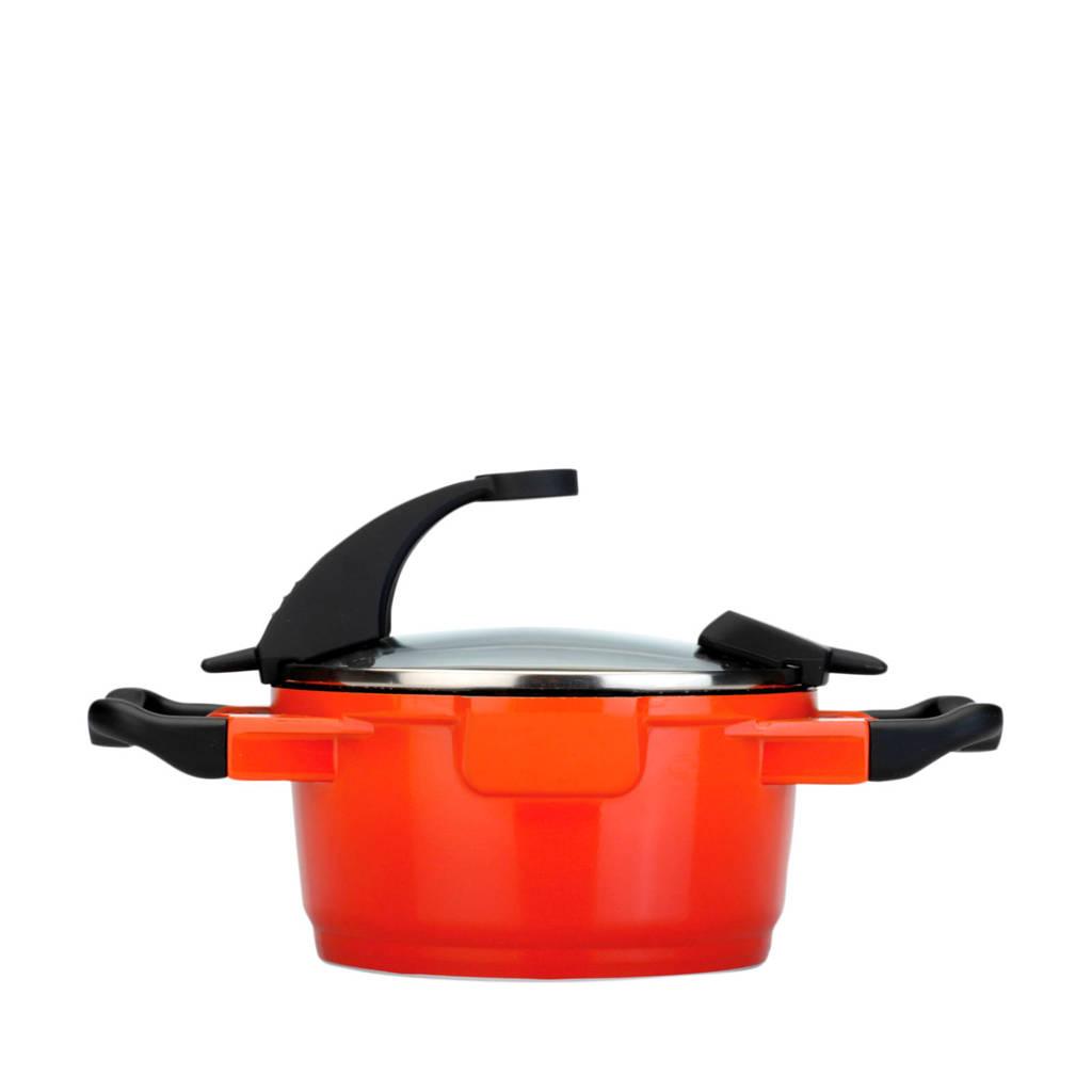 BergHOFF Virgo Line kookpan met deksel (Ø16 cm), Oranje