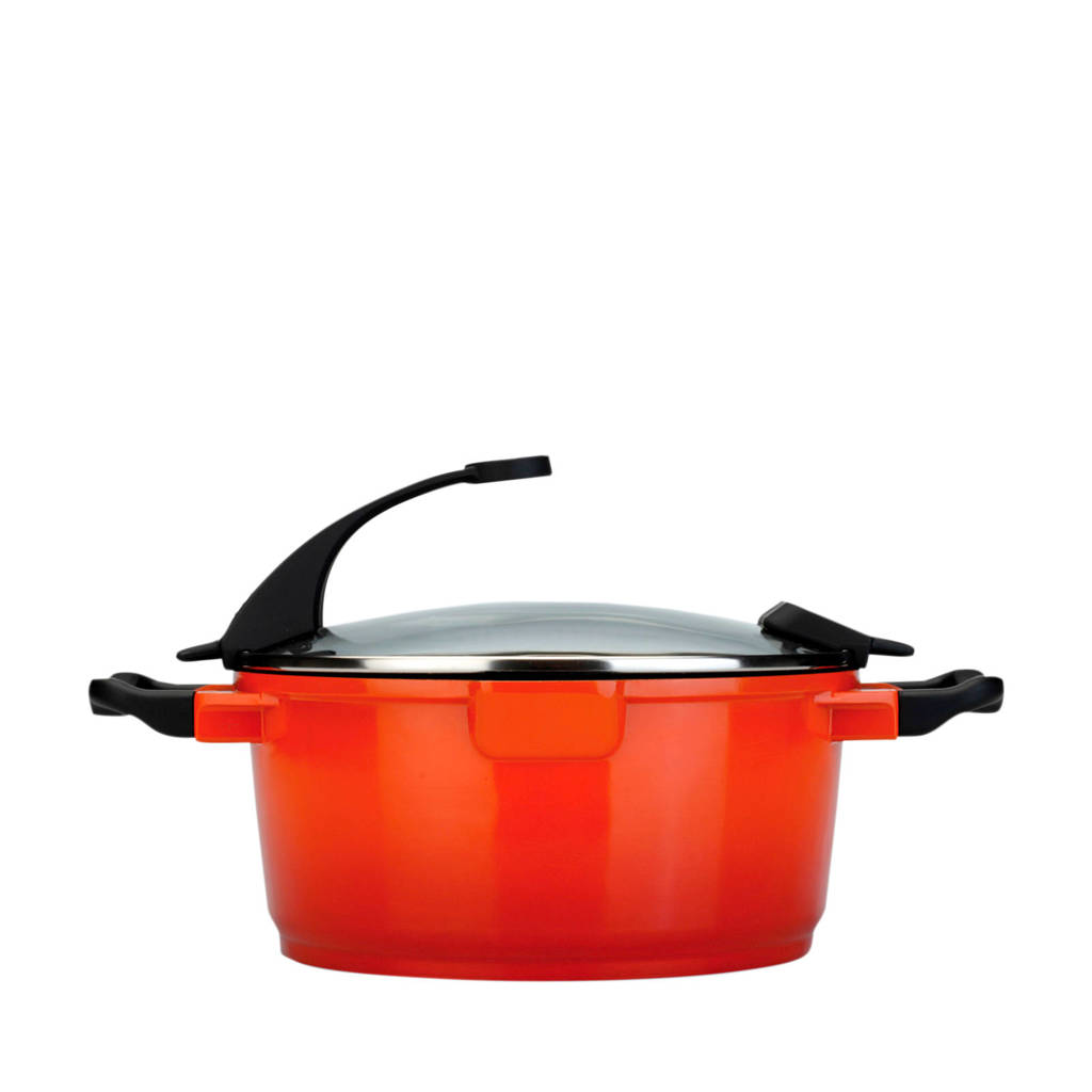 BergHOFF Virgo Line kookpan met deksel (Ø28 cm), Oranje
