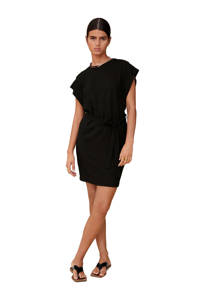 Mango jurk met vleermuismouwen zwart, Zwart