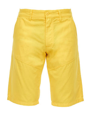 regular fit bermuda geel