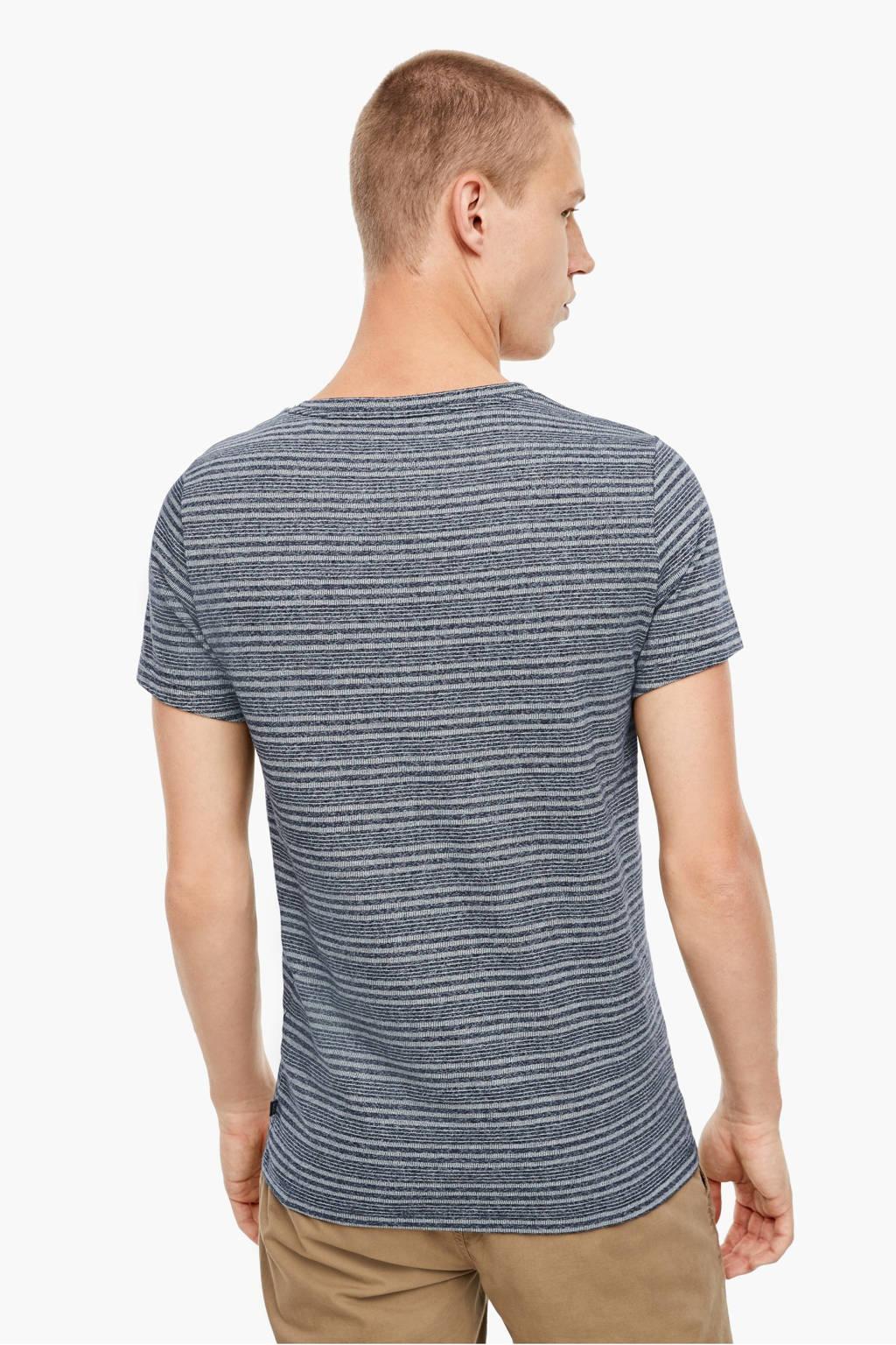 Q/S designed by gestreept T-shirt donkerblauw, Donkerblauw