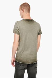 Q/S designed by T-shirt met printopdruk olijfgroen, Olijfgroen
