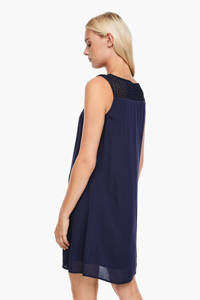 s.Oliver jurk met kant donkerblauw, Donkerblauw