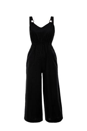 jumpsuit met linnen zwart