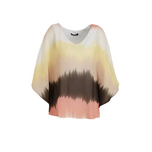s.Oliver BLACK LABEL dip-dye top ecru/geel/roze