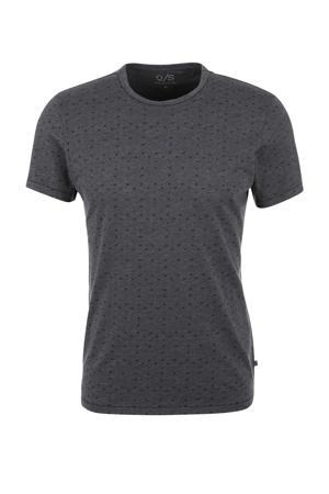 T-shirt met all over print antraciet