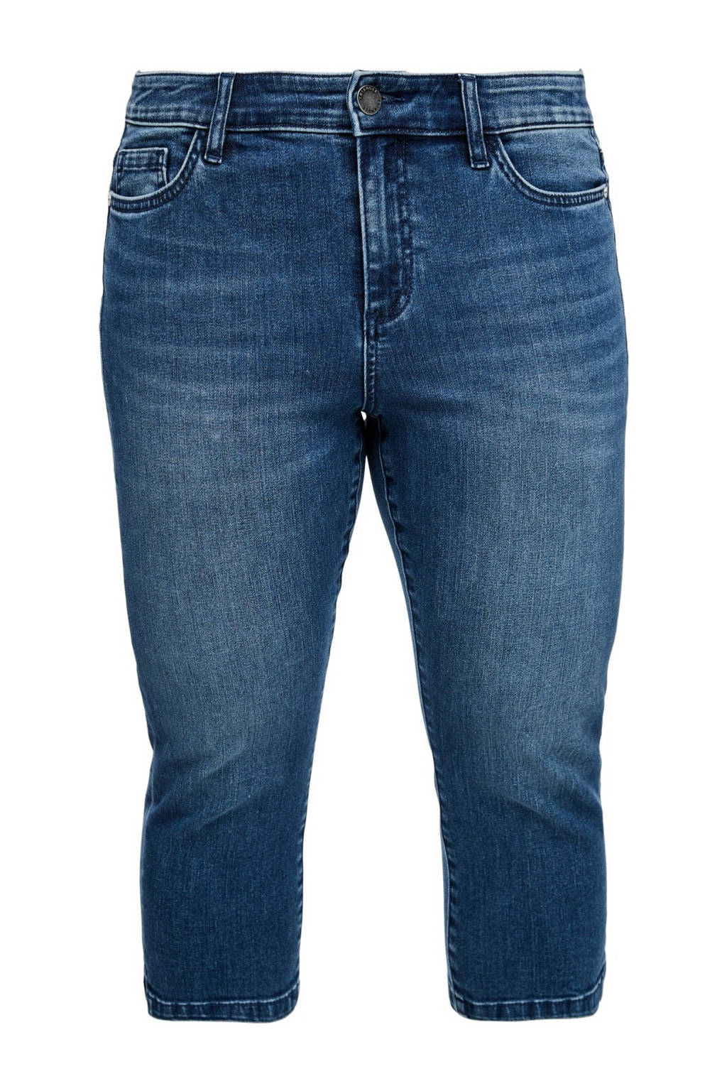 TRIANGLE slim fit capri jeans blauw, Blauw