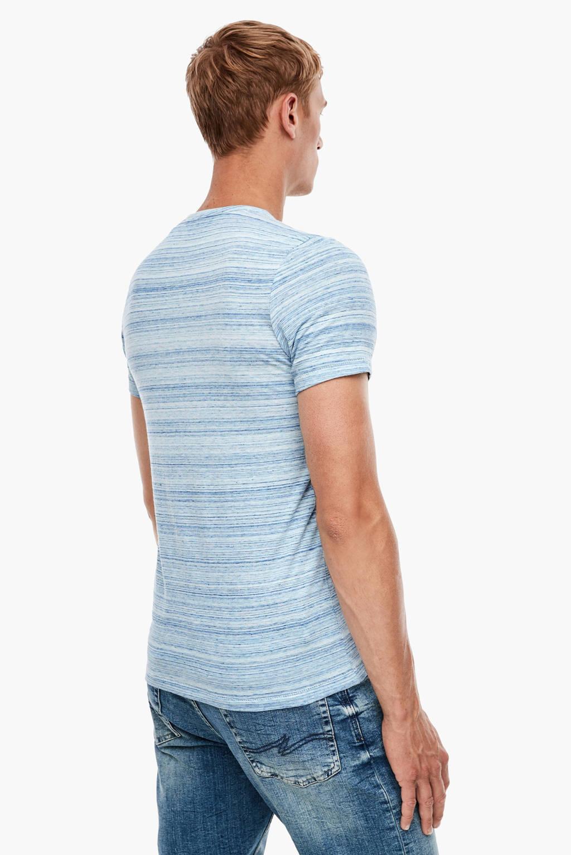 Q/S designed by gestreept T-shirt lichtblauw, Lichtblauw
