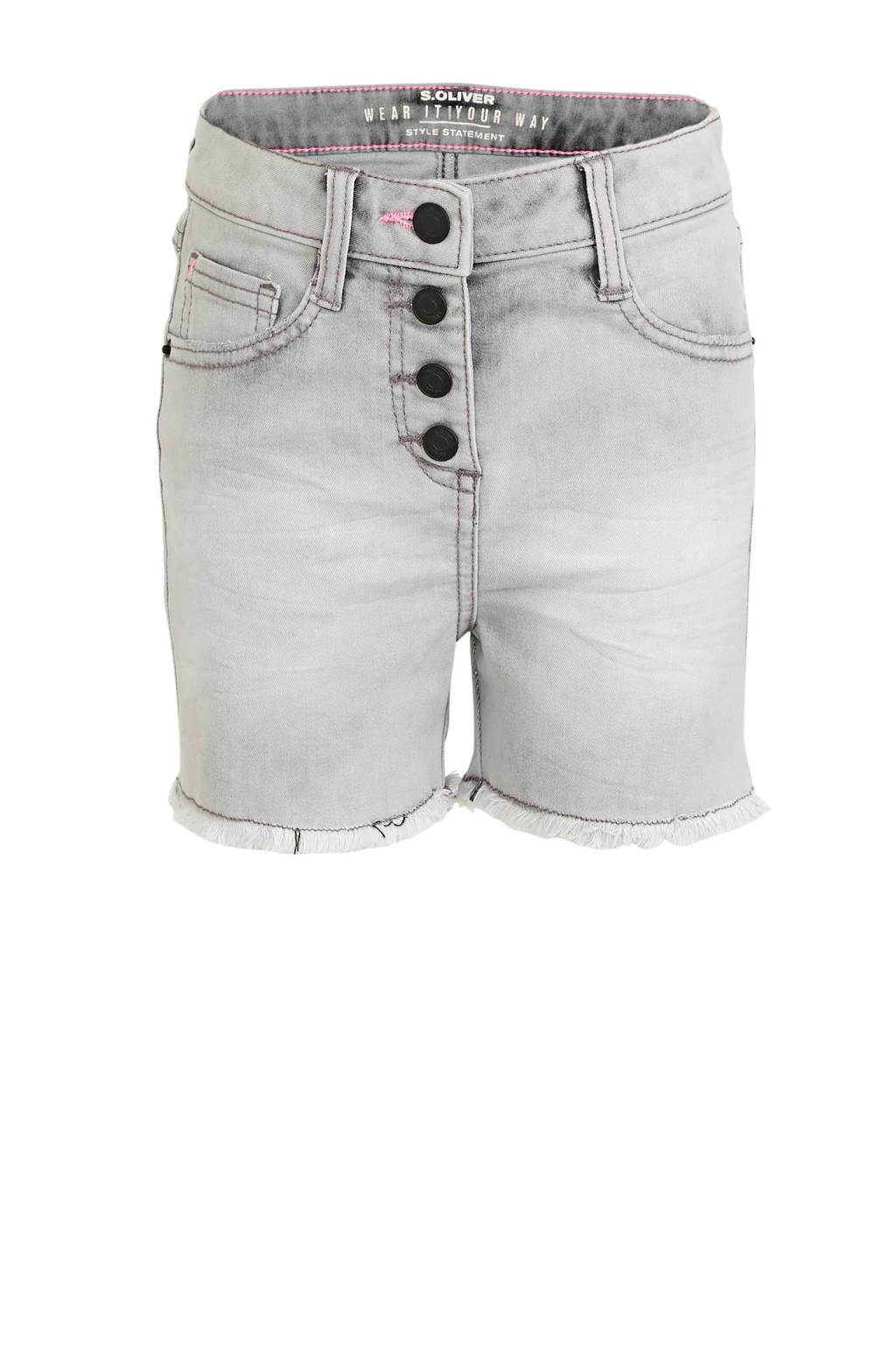 s.Oliver slim fit jeans short grijs, Grijs