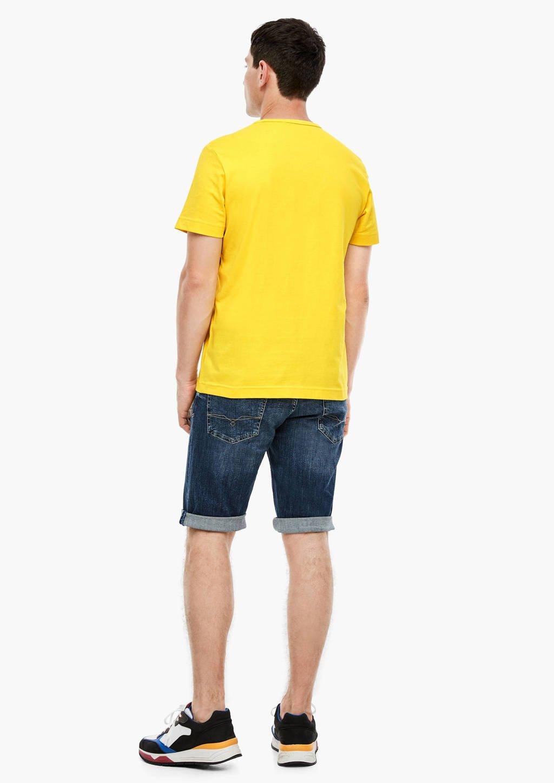 s.Oliver T-shirt met printopdruk geel, Geel