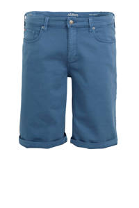 s.Oliver regular fit bermuda blauw, Blauw