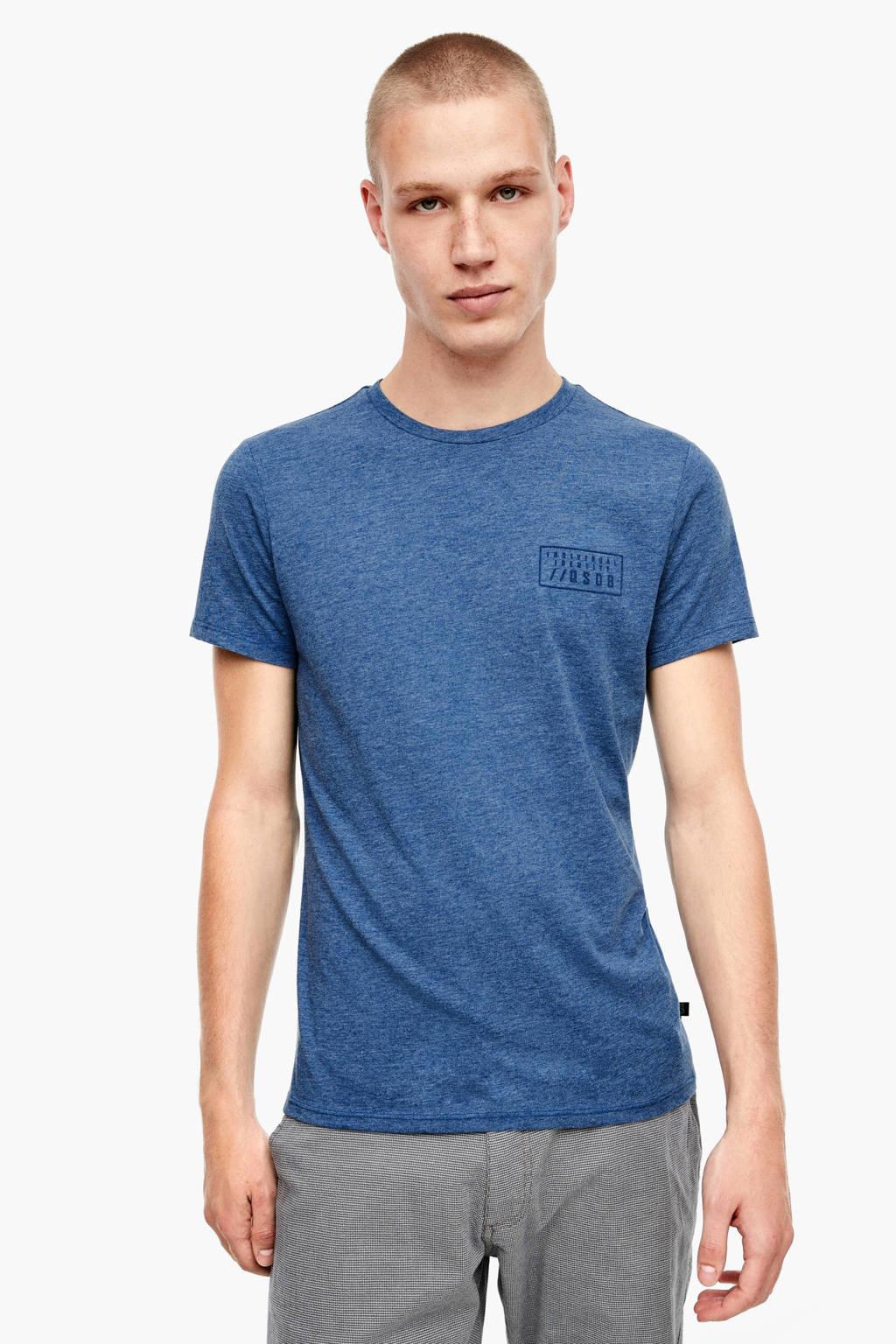 Q/S designed by gemêleerd T-shirt blauw, Blauw