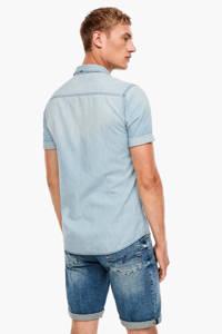 Q/S designed by slim fit overhemd light denim, Light denim