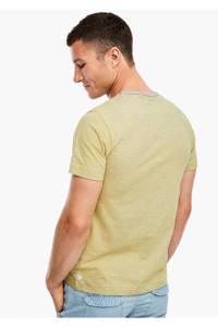 s.Oliver gemêleerd T-shirt geel, Geel