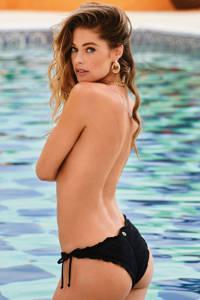 Hunkemöller by Doutzen strik bikinibroekje Pacific zwart, Zwart