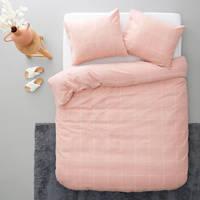 whkmp's own flanellen dekbedovertrek 1 persoons, Roze, 1 persoons (140 cm breed)