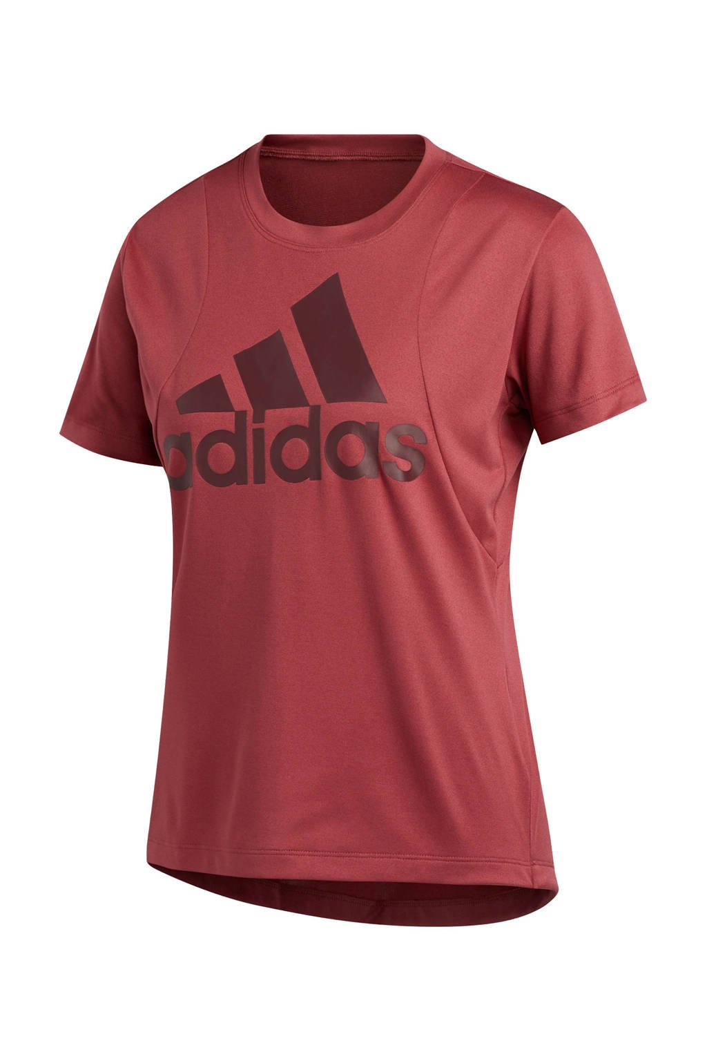 adidas Performance sport T-shirt donkerrood, Donkerrood
