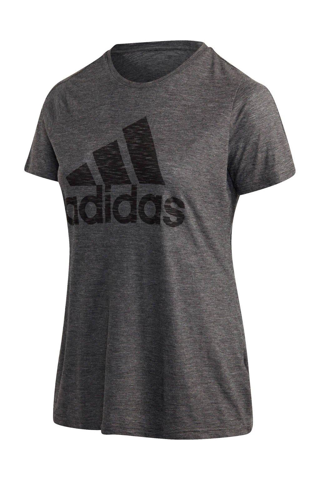 adidas Performance Plus Size sport T-shirt antraciet, Antraciet