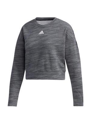 sportsweater donkergrijs/wit