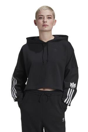 cropped hoodie zwart/wit